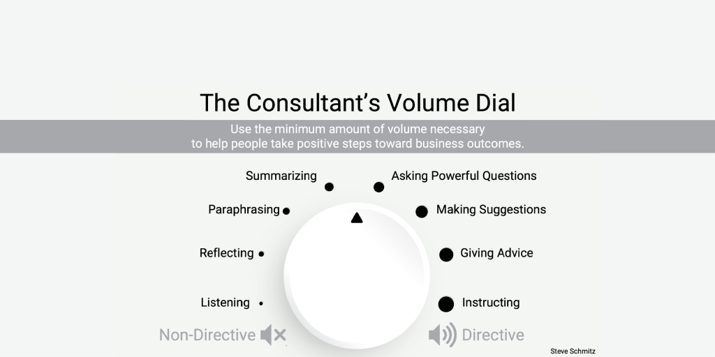 The Consultant's Volume Dial